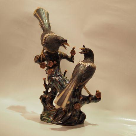 pottery birds
