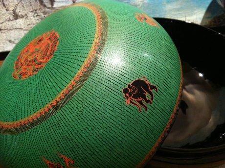 Green lacquerware