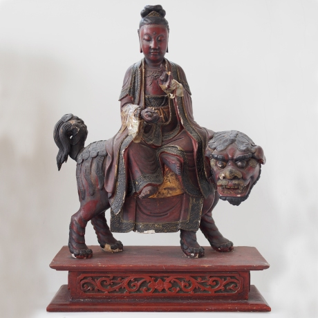 Bodhisattva Manjusri on Lion