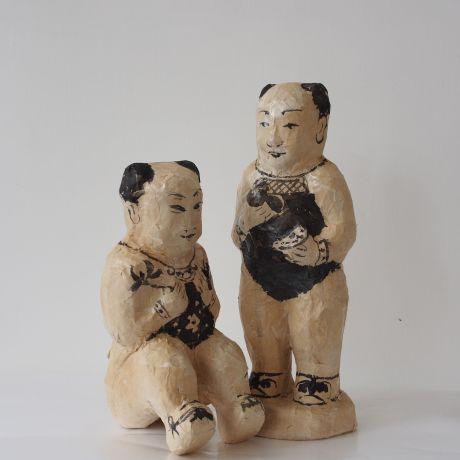 paper mache dolls